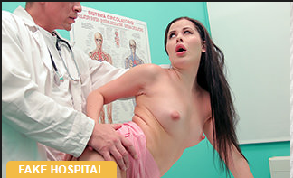 FakeHospital – Cassie Fire – Doctor fucks shaven Russian pussy