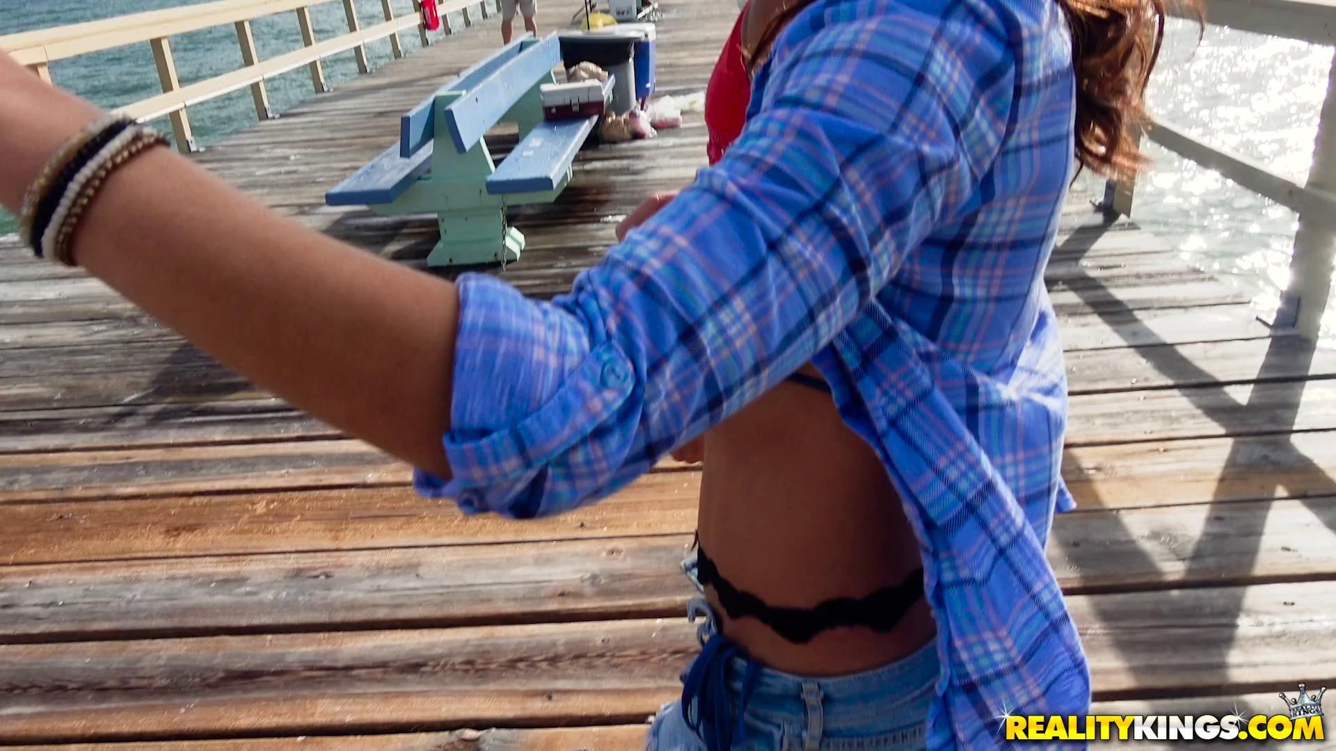 8thStreetLatinas – Sophia Leone And Mandy Flores BFF Beach Sluts
