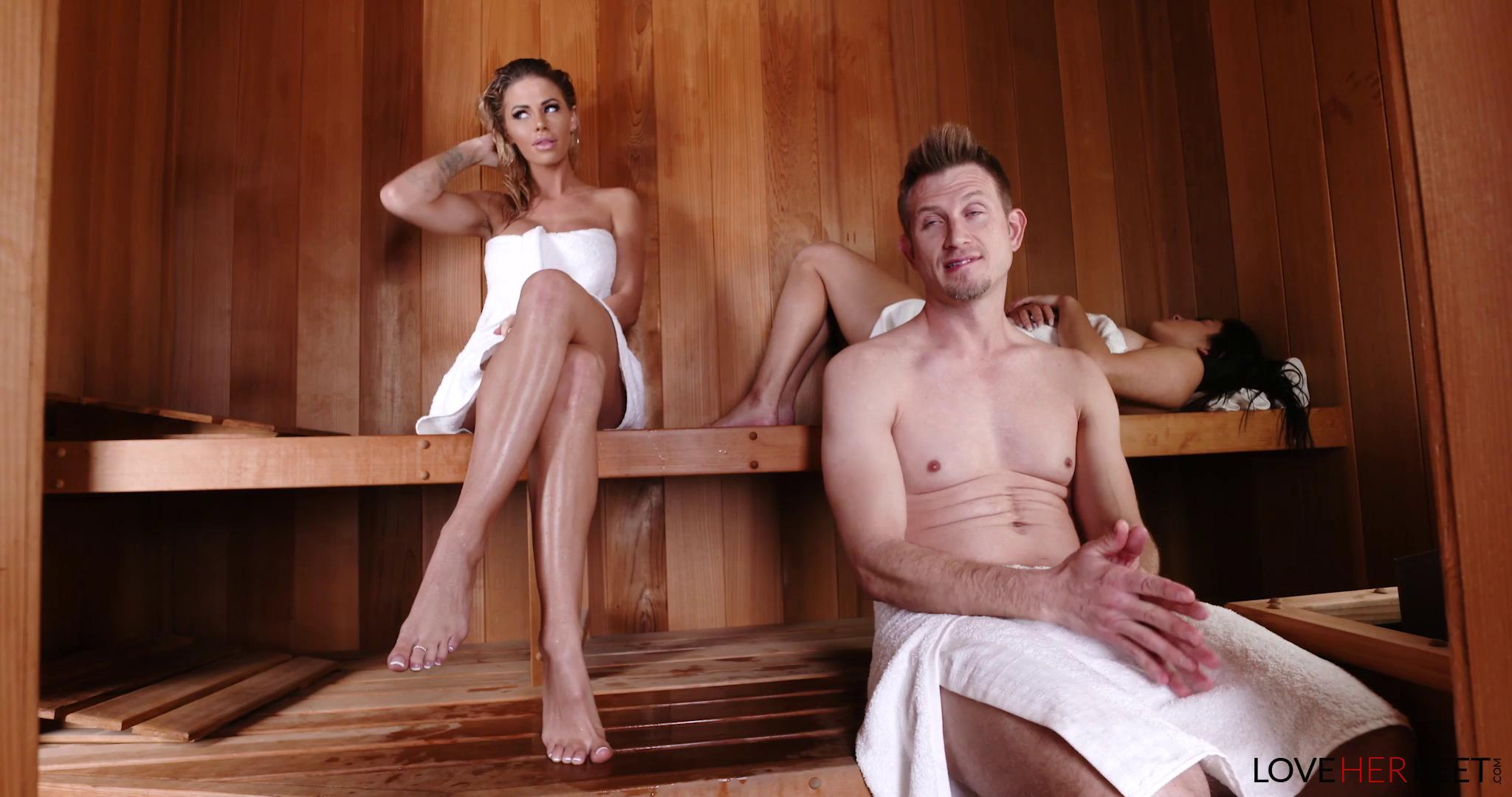 LoveHerFeet – Jessa Rhodes Sneaky Sauna Sex